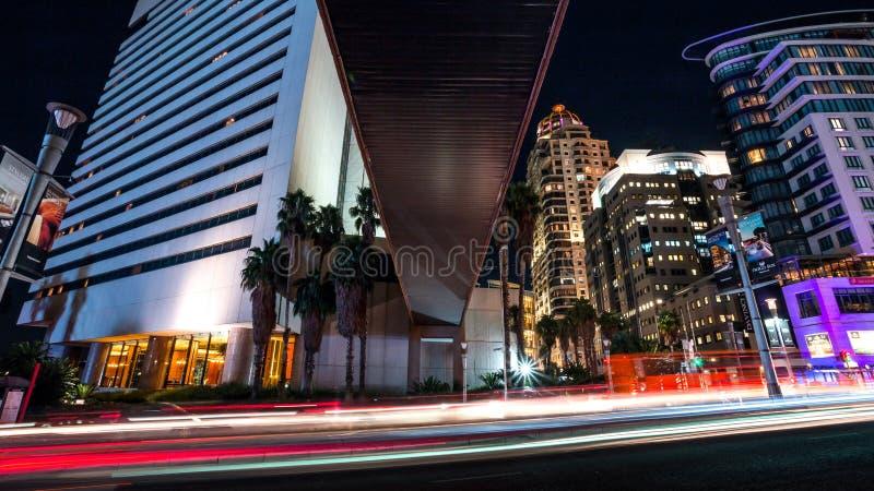 Sandton night streets stock image