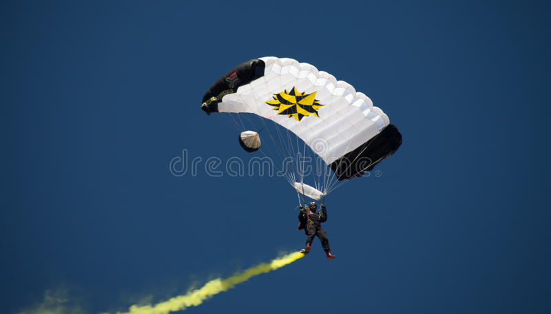 JOHANNESBURG, SOUTH AFRICA - APRIL 2017 - South African Defence Force Special Forces Parachute royalty free stock images