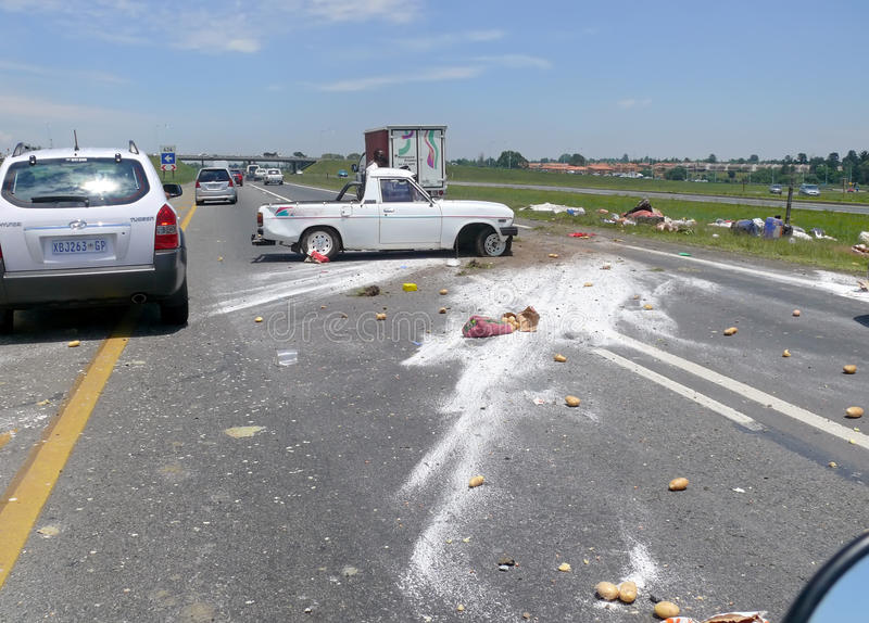 Johannesburg, South Africa - 13 December 2008: Car accident. stock photo