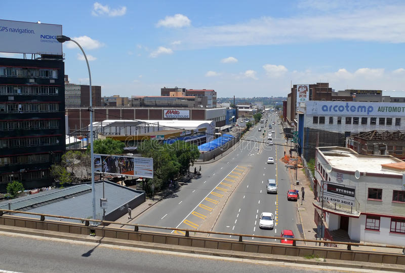 Johannesburg, South Africa - 13 December 2008: road with the moving of her car . stock photos