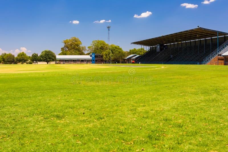 Empty High School Sports Stadium. Johannesburg, South Africa - February 10 2015: Empty High School Sports Stadium stock images