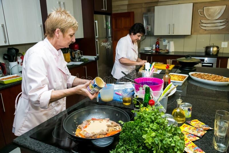 Nestle Low Salt Cooking Class stock photos