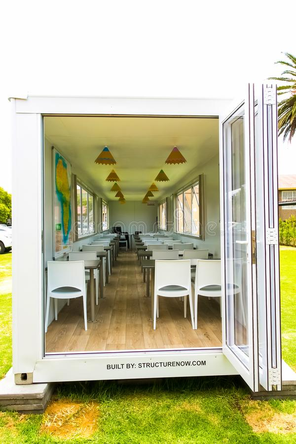 Small Portable Classroom made from a shipping container royalty free stock images