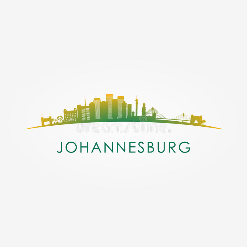 Johannesburg, South Africa skyline silhouette. royalty free illustration