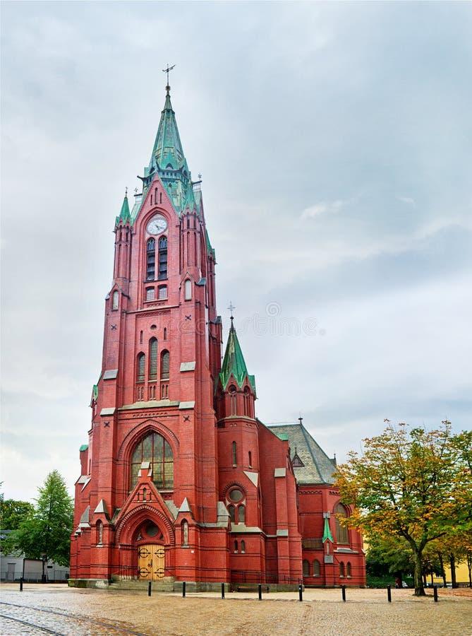 Johanneskirken (la iglesia de St John) en Bergen noruega imágenes de archivo libres de regalías