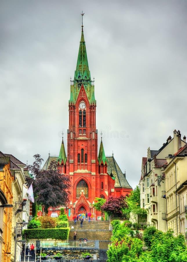Johanneskirken, St John Church en Bergen, Noruega imágenes de archivo libres de regalías