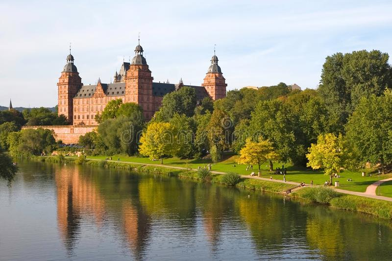 Johannisburg Castle in Aschaffenburg, Germany royalty free stock photo