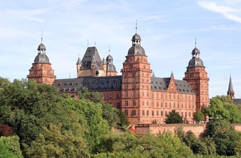 Johannisburg Schloss in Aschaffenburg, Deutschland lizenzfreie stockbilder