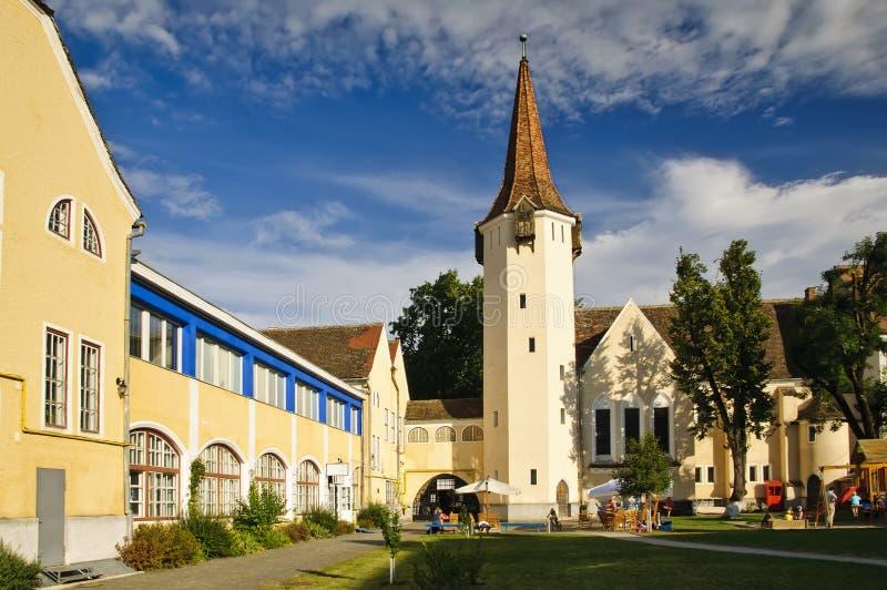 Johanniskirche em Sibiu imagens de stock