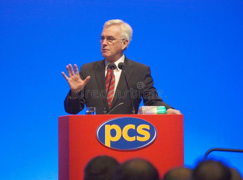 John (1) członek parlamentu Mcdonnell obrazy stock