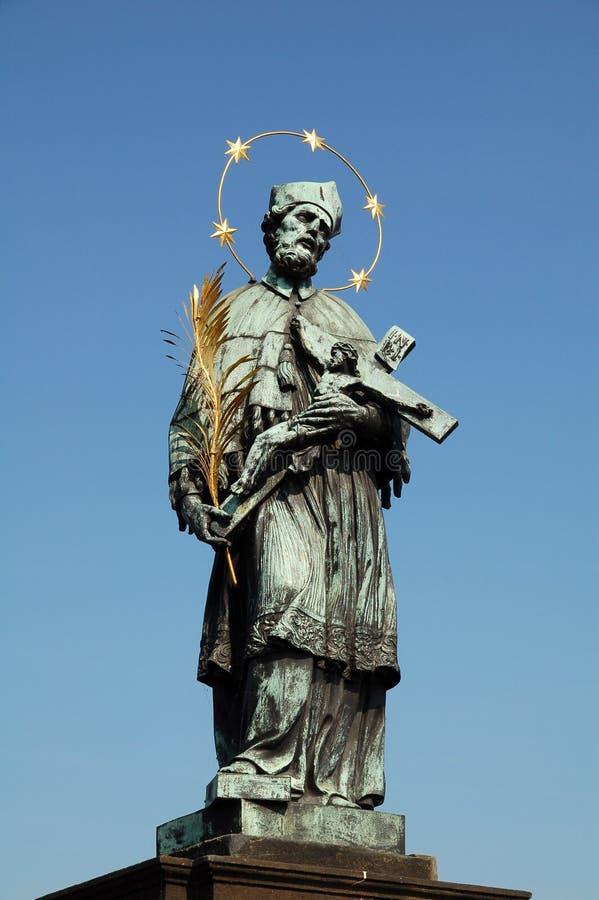 John 1 nepomuk st. obraz royalty free