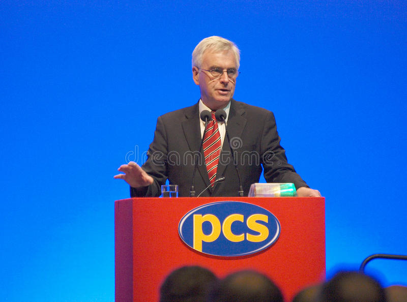 John 2 członka parlamentu Mcdonnell zdjęcie royalty free
