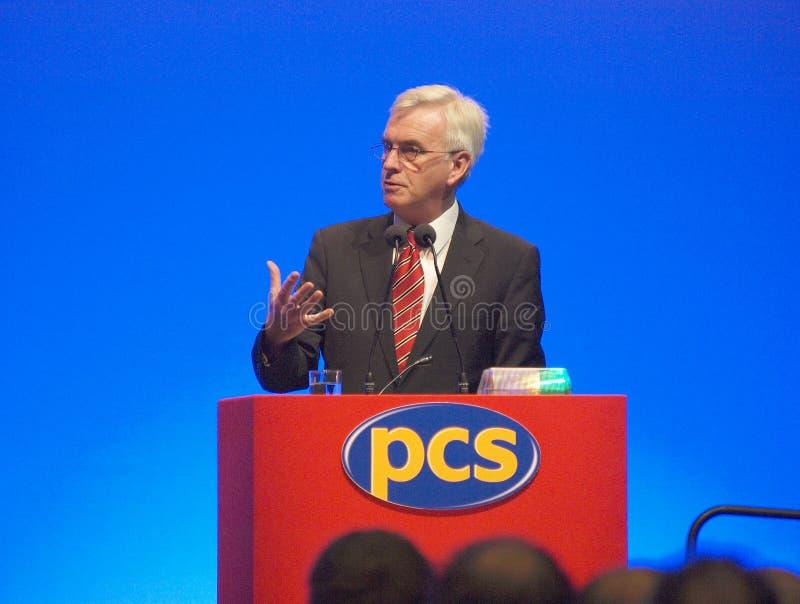 John 3 członka parlamentu Mcdonnell fotografia stock