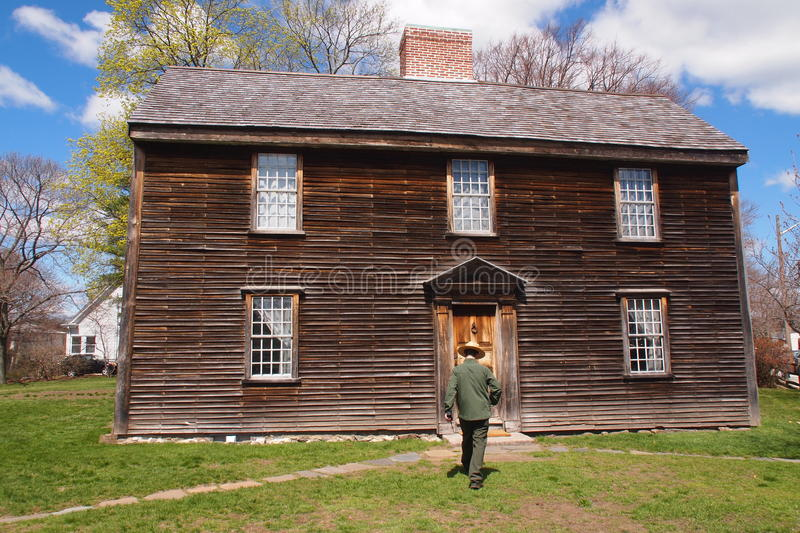 John Adams Birthplace in Quincy, MA royalty free stock image