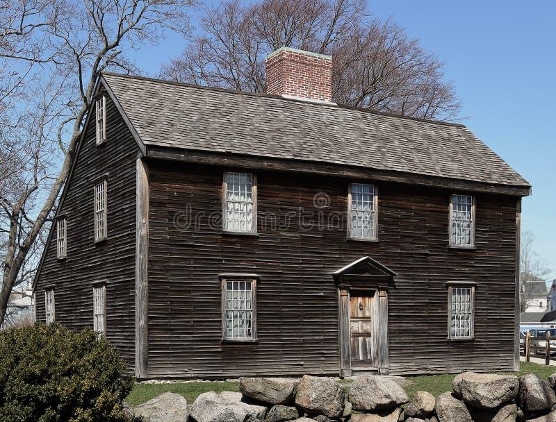 John Adams miejsce narodzin w Quincy, Massachusetts fotografia royalty free