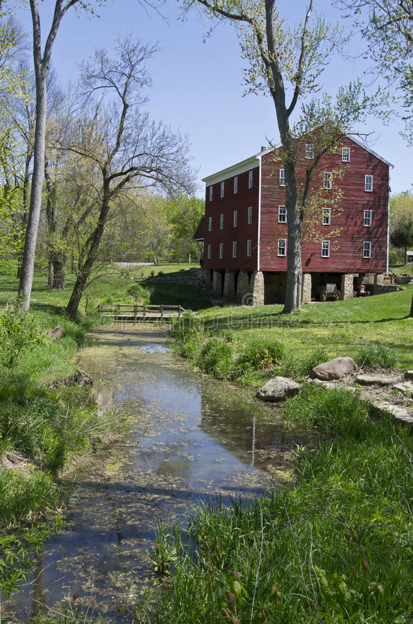 John Adams Mill in Indiana. John Adams Mill built in 1845 east of Cutler, Indiana stock photography