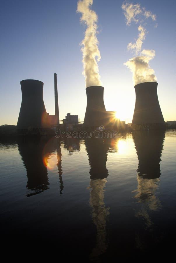 John Amos Power Plant a carbone sul fiume di Kanoa, WV immagini stock