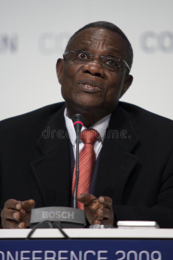 John Atta macina Presidente del Ghana fotografia stock