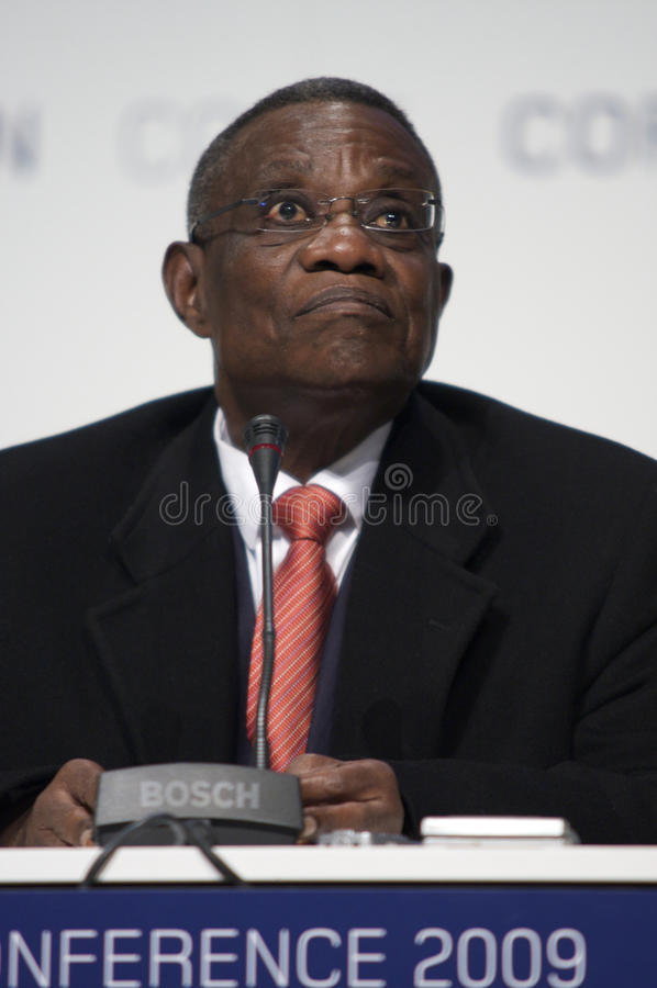 John Atta macina Presidente del Ghana fotografia stock libera da diritti