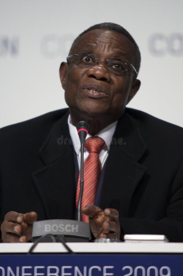John Atta mal president av Ghana arkivfoto
