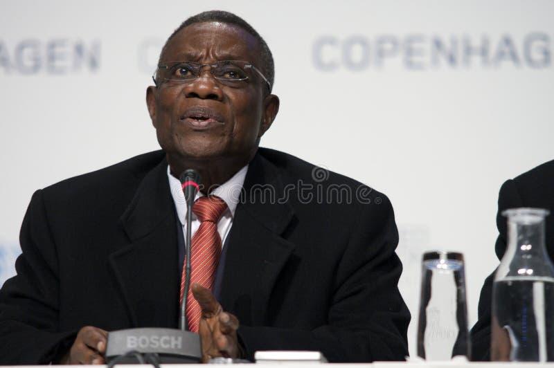 John Atta mal president av Ghana royaltyfria foton