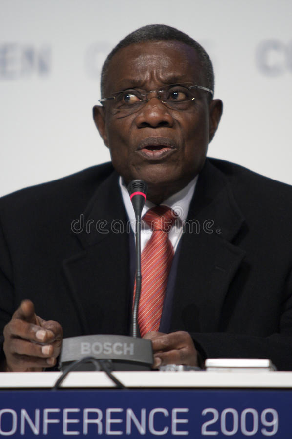 John Atta Mills President of Ghana royalty free stock photos