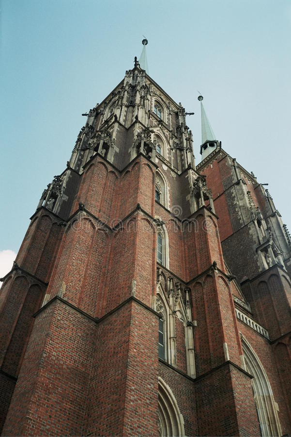 John the Baptist cathedral church wroclaw poland royalty free stock image