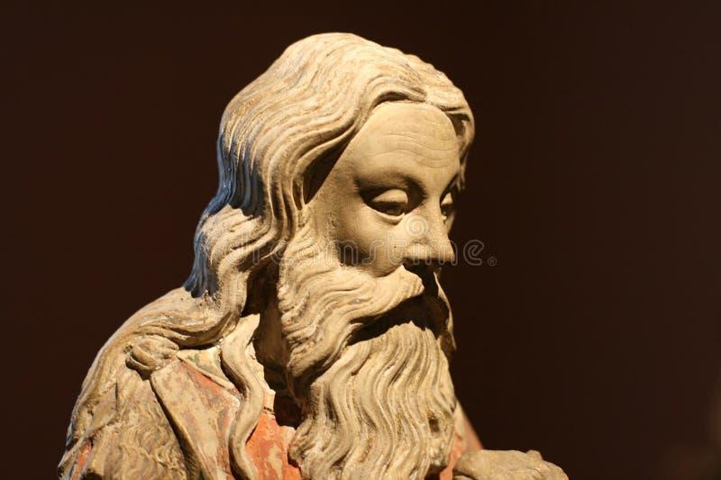 John The Baptist/estátua/cabeça foto de stock royalty free