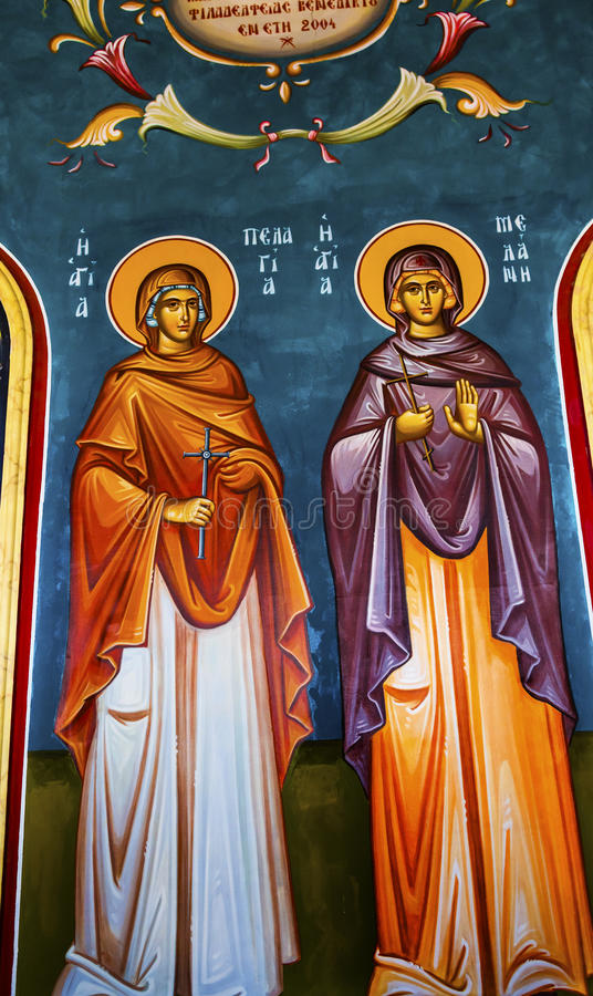 John Baptist Greek Orthodox Church Bethany além de Jordânia fotografia de stock royalty free