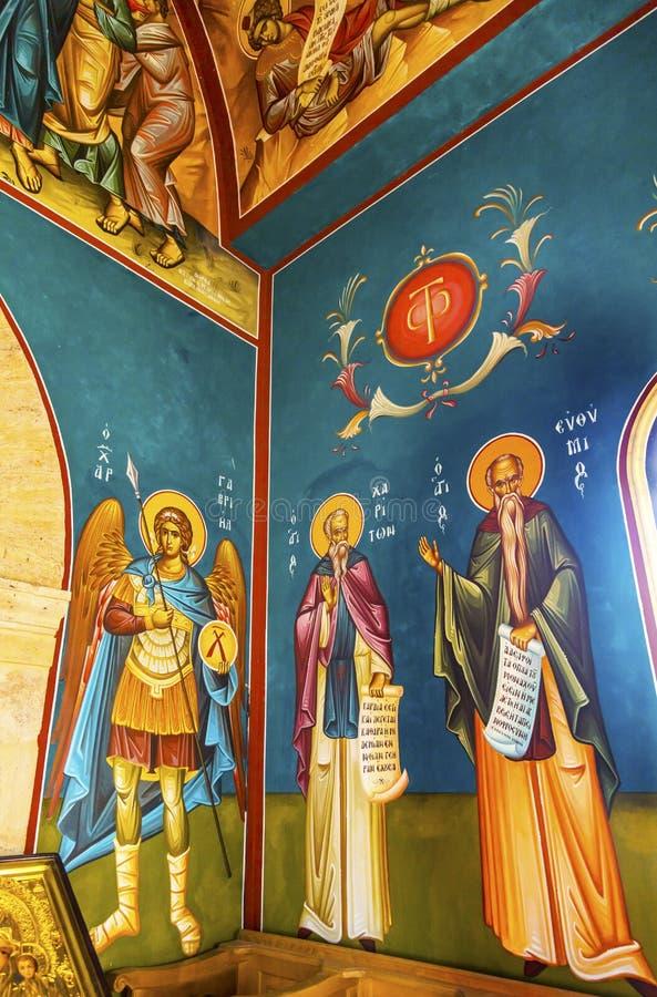 John Baptist Greek Orthodox Church Bethany além de Jordânia fotos de stock