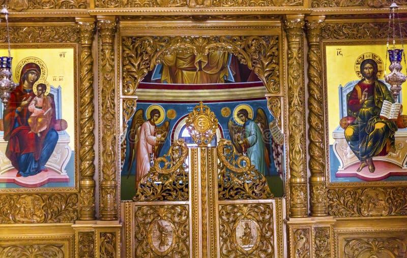 John Baptist Greek Orthodox Church Bethany más allá de Jordania imagen de archivo libre de regalías