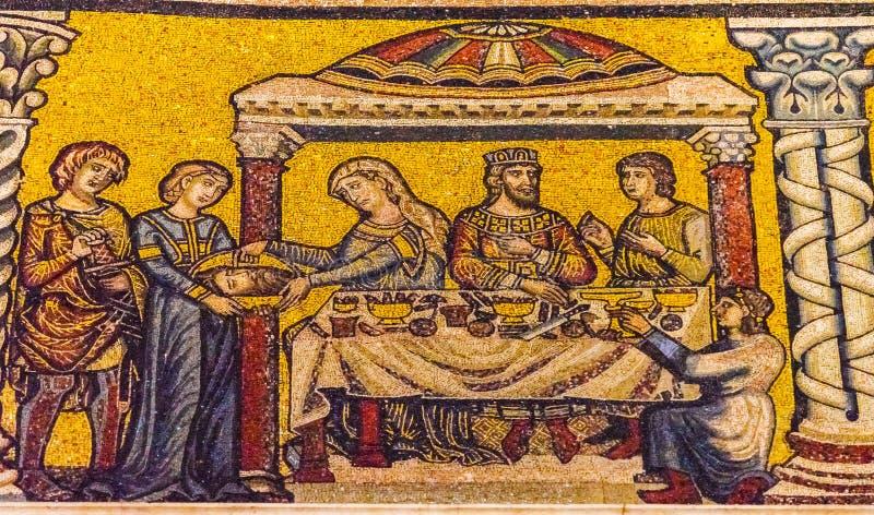 John Baptist Mosaic Dome Bapistry Saint John Florence Italy imagens de stock royalty free