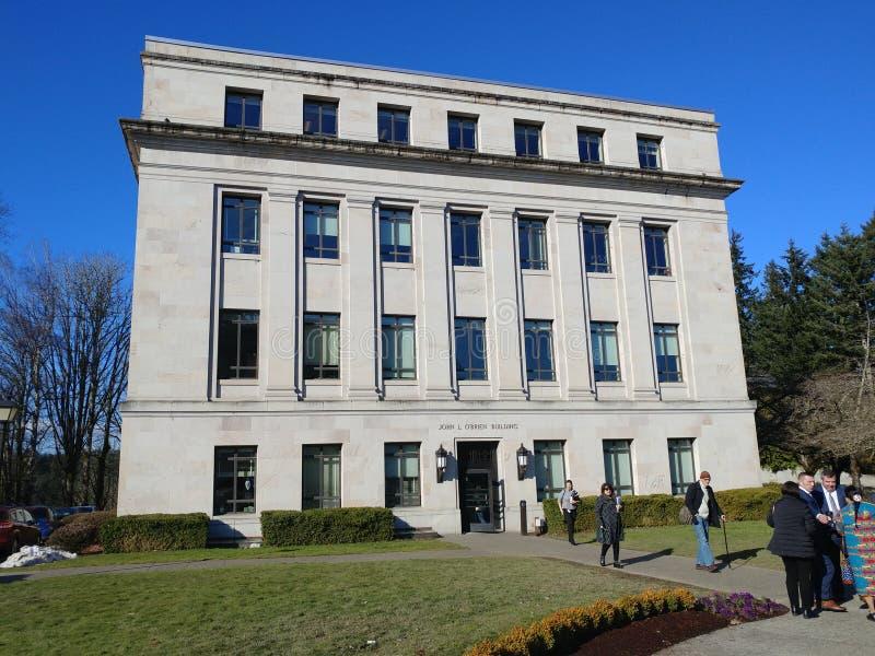 John Brian för L nolla 'byggnad Washington State House av representanter arkivbild