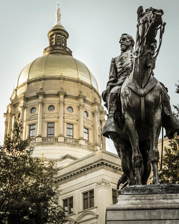 John Brown Gordon Statue bei Georgia Statehouse stockbilder
