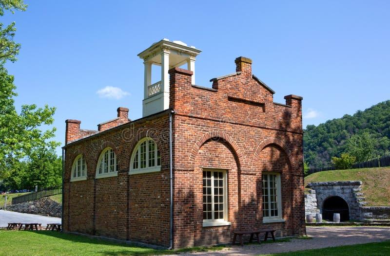 John Browns Fort Harpers Ferry stock afbeeldingen