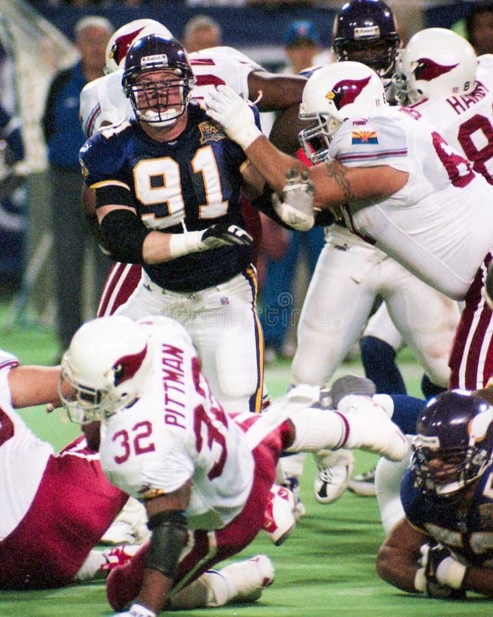 John Burrough, Minnesota Vikings foto de stock royalty free