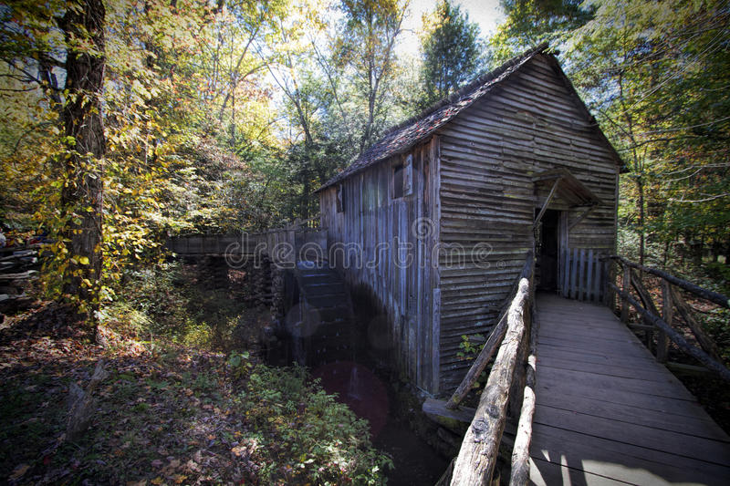 John Cable Grist Mill in Cades-Inham Tennessee royalty-vrije stock foto