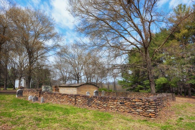 John Carter Mansion, Cemetery in Elizabethton,Tennessee royalty free stock photos