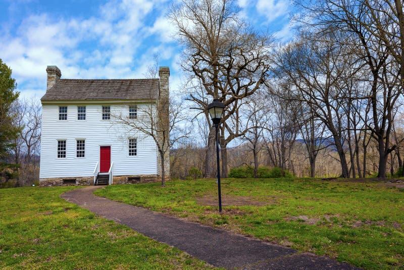 John Carter Mansion i Elizabethton, Tennessee royaltyfri fotografi