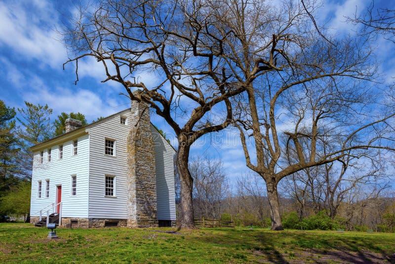 John Carter Mansion i Elizabethton, Tennessee royaltyfria bilder