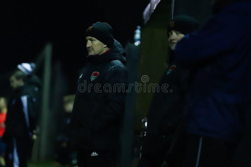 John Caulfield bij het pre-seizoen vriendschappelijk tussen de Ligateam Cork City FC van SSE Airtricity en Hoger de Ligateam St M stock afbeeldingen