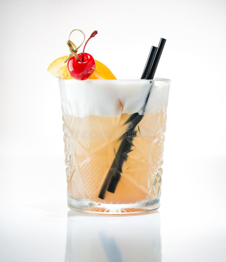 Free John Collins Or Whiskey Sour Cocktail Stock Photography - 120646772