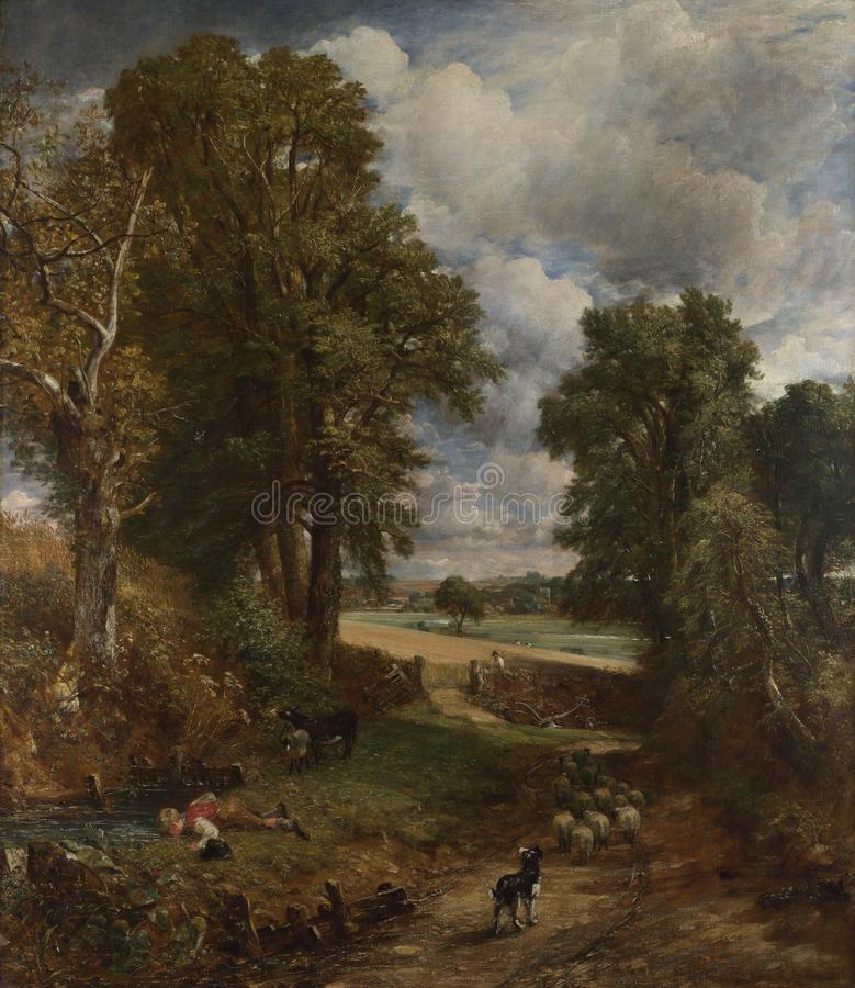 John Constable - das Getreidefeld stockbilder