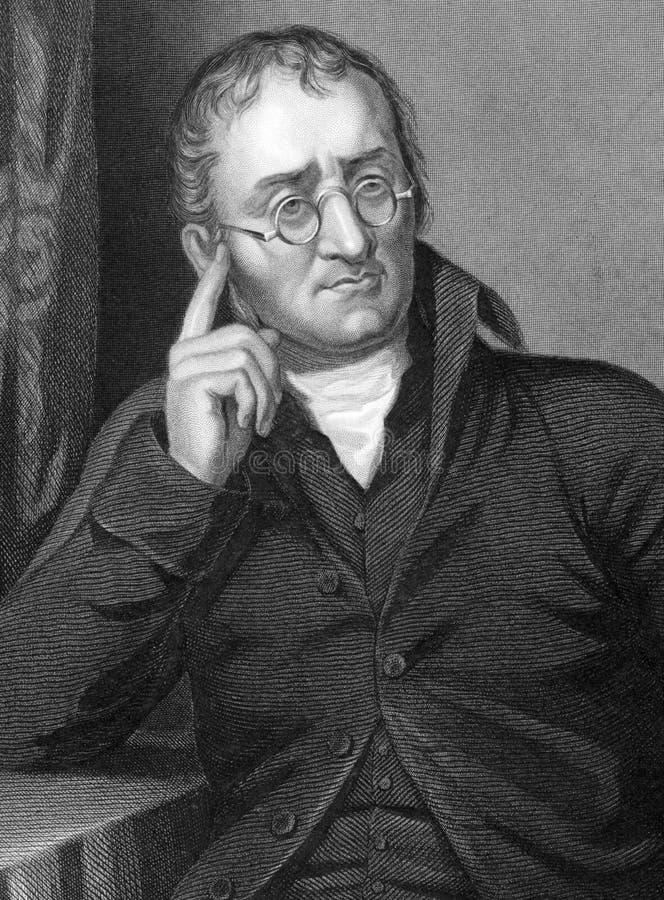 John Dalton illustration stock