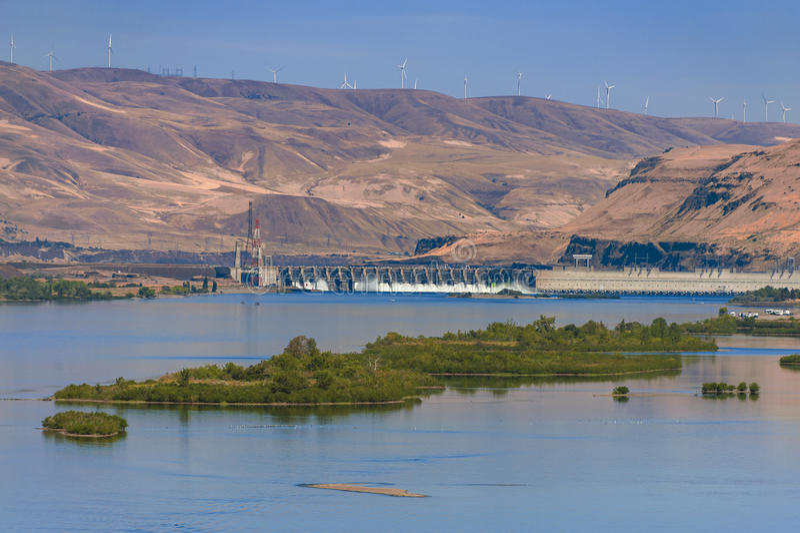 John Day Dam stock foto's