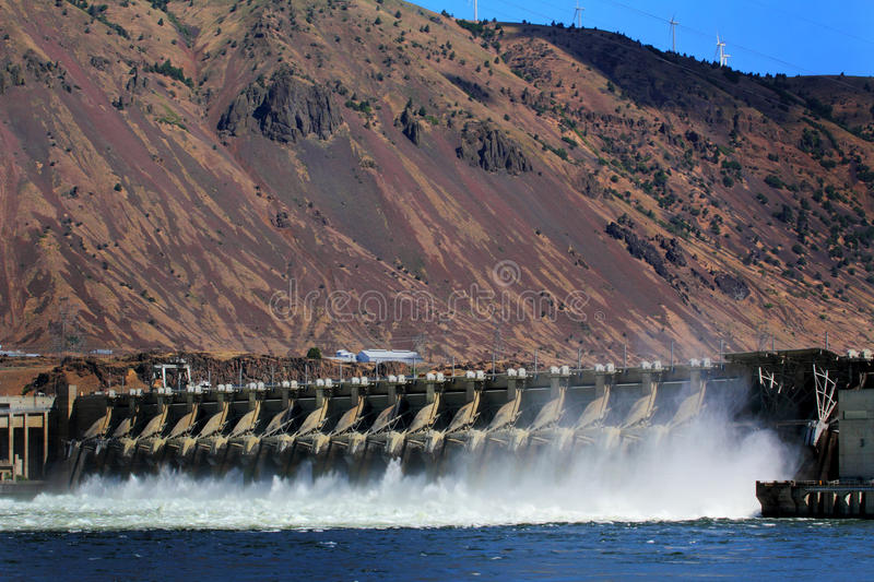 John Day Hydro Power Dam stock image