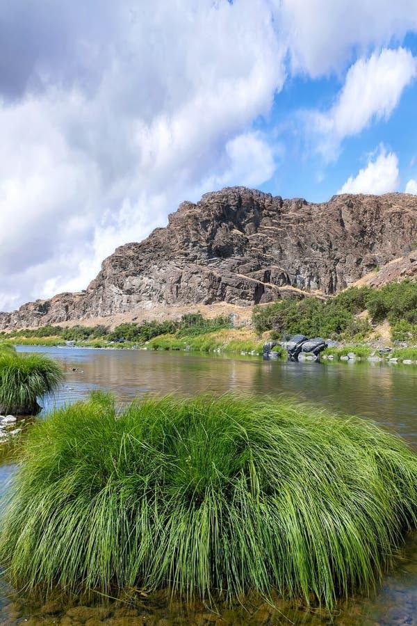 John Day River Landscape in Summer Portrait central oregon USA stock photos