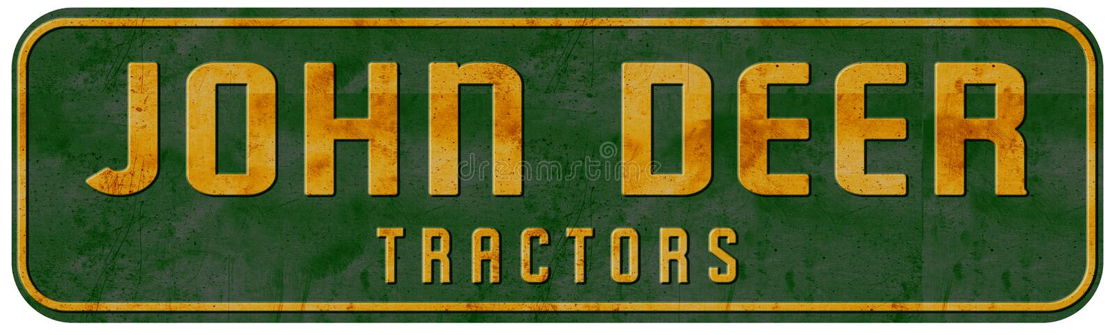 John Deer Tractor Sign Vintage Texas Ranch royalty-vrije stock afbeeldingen