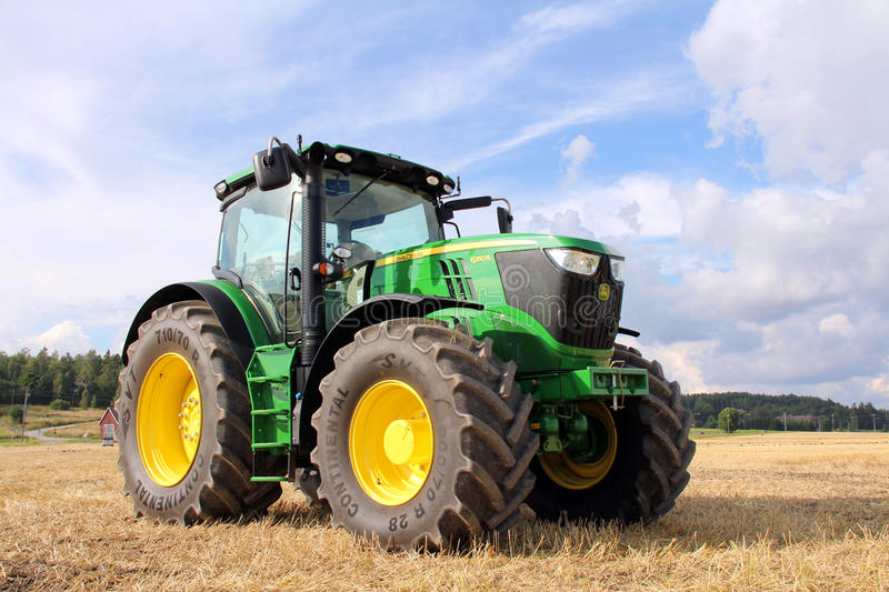 Download John Deere 6210R Tractor editorial photography. Image of continental - 26256587