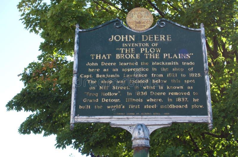 John Deere Apprenticeship Plaque imagem de stock
